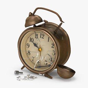 max damaged alarm clock dirty