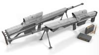 futuristic sniper rifle obj free