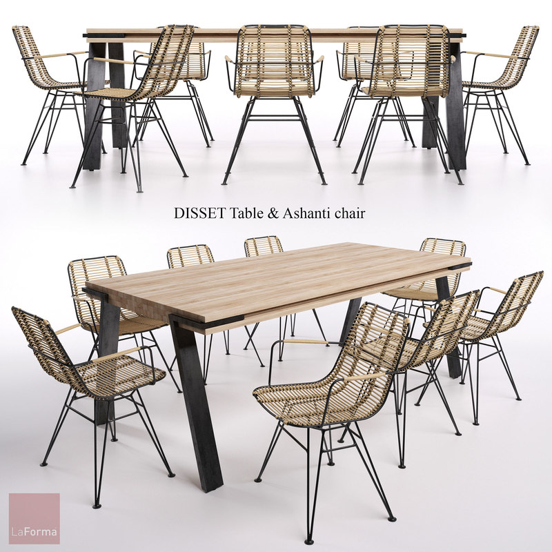 table chair disset 3d model