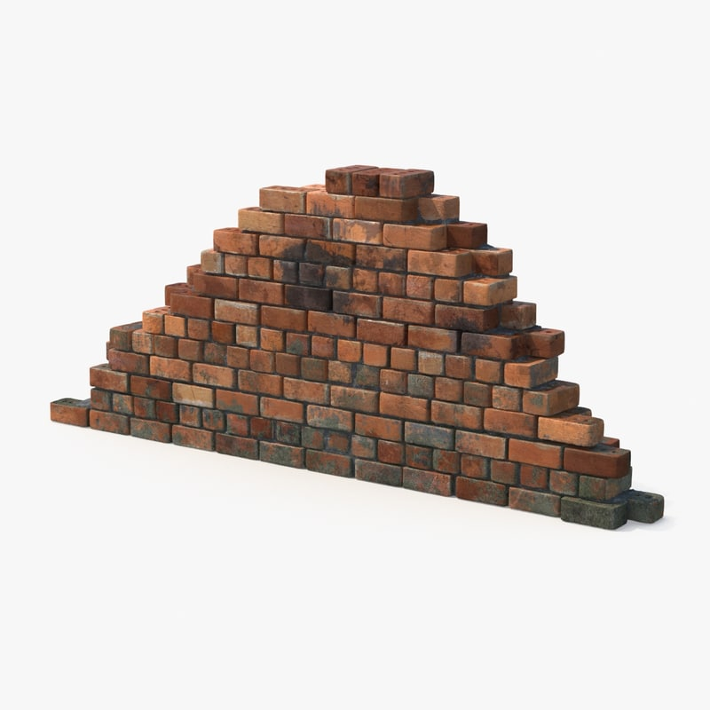 brick sections dirty 3d max