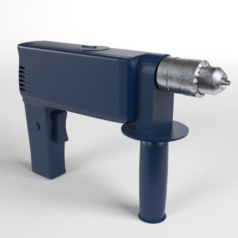drill pistol grip 3d model