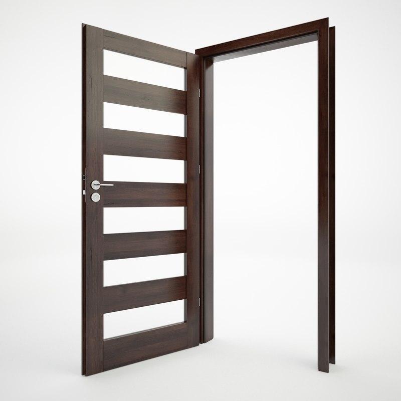 modern doors 3d 3ds