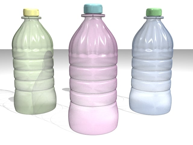 3d model plastic bottle