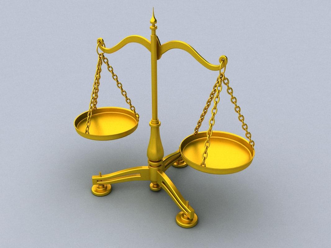 3d max balance scale