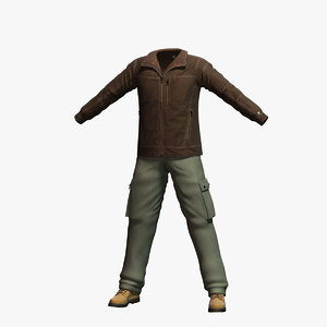 mens clothing 1 3d model
