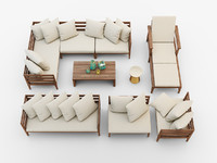 jardine outdoor furniture set 3d max