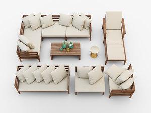 jardine outdoor furniture set 3d max