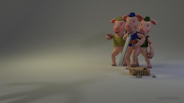pig 3d blend