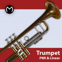 3d model trumpet pbr