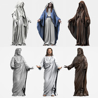3d jesus virgin mary model