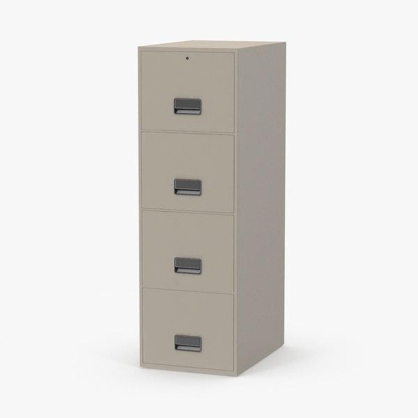 3d filing cabinet model