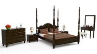 bed 3d blend