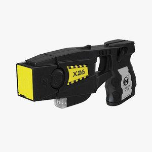 police taser gun 3d model
