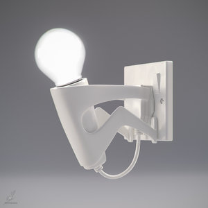 3d model suicide bulb lamp lighting