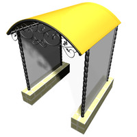 free x mode awning overhang building