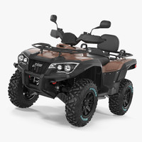 3d model atv wheeler bike generic