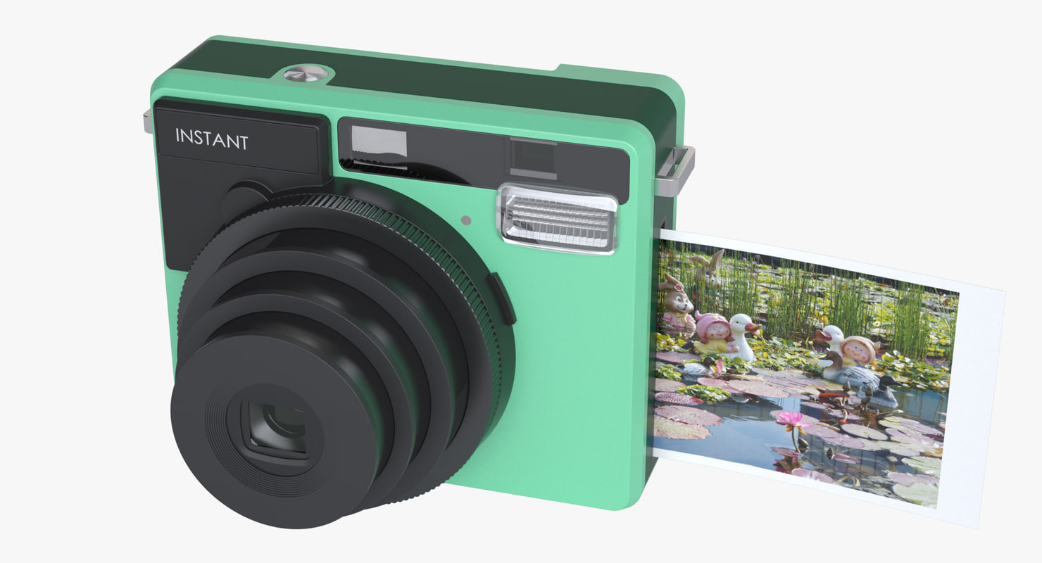 3d photoreal instant camera model