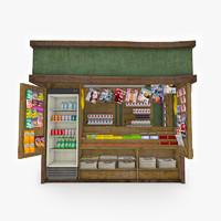 3d newspaper kiosk