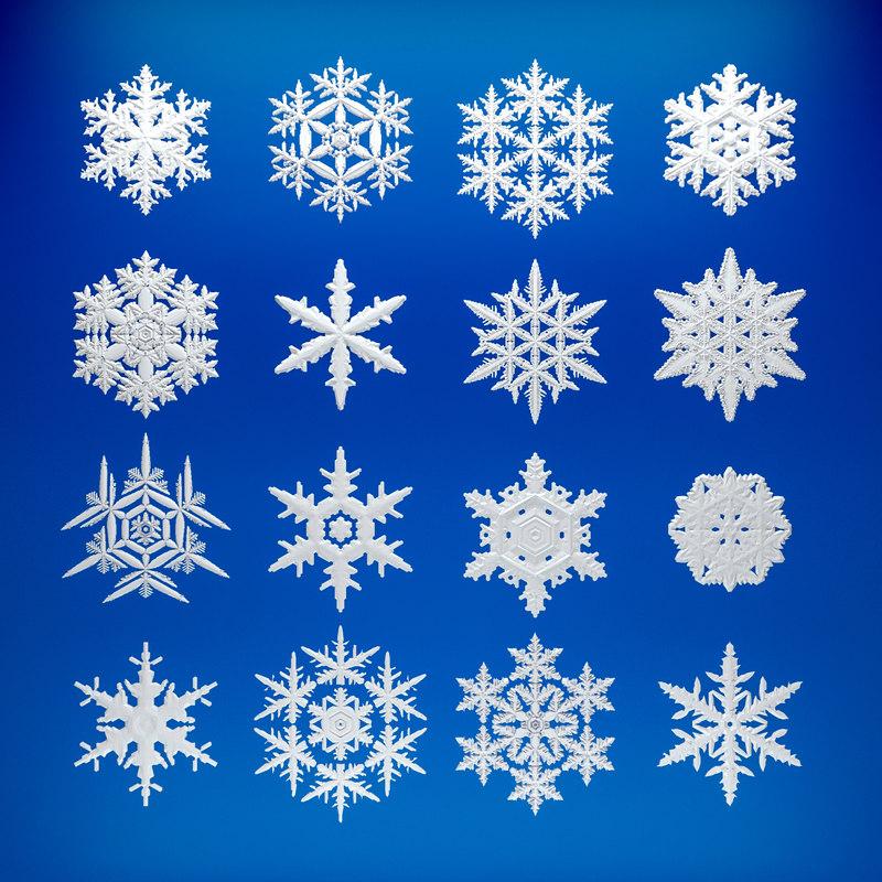 3d Model Of Snowflake Snow Flake