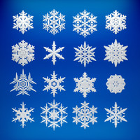 3d model of snowflake snow flake