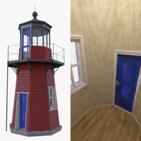 3d model lighthouse interior light