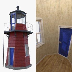 3d model lighthouse interior light