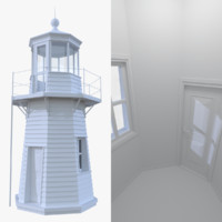 lighthouse interior light 3d model