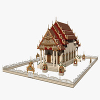 3d model chinese church -