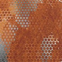 3d weathered honeycomb metal plate model