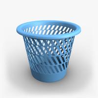 3d wastebasket waste model
