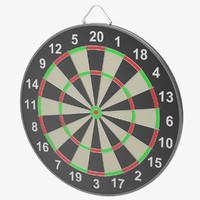 obj dartboard dart board