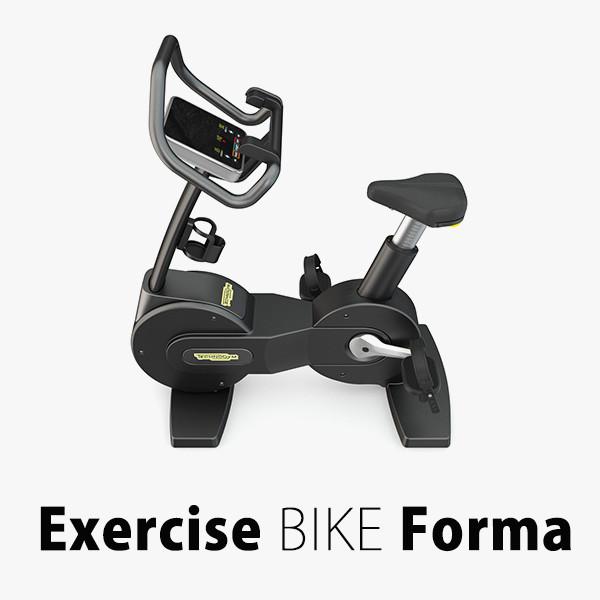 exercise bike forma technogym 3d model