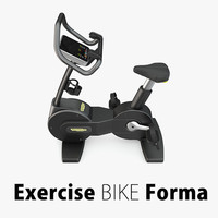 exercise bike forma technogym 3d model
