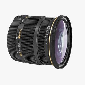 3d model of lens sigma 17-50mm os