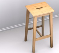 3d ikea bosse bar stool