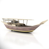3d fisher boat oman wooden