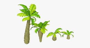 3d toon palms