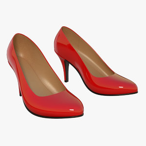 sexy heel pumps 3d model