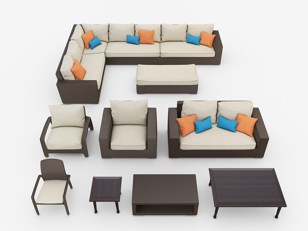 3d model tropitone outdoor furniture set