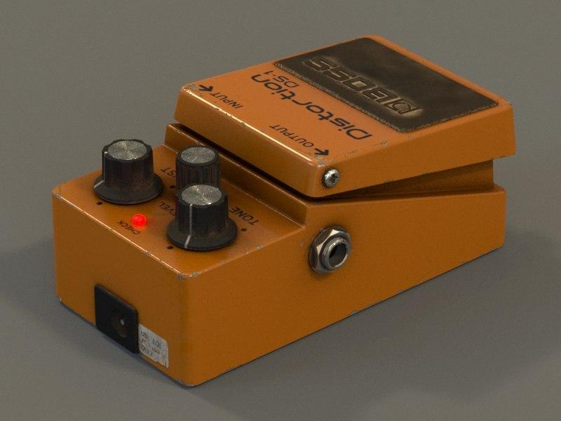 boss pedal 3d max
