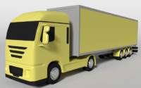 box truck 3d blend