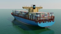 Container Ship (Emma Maersk) by Abhishek