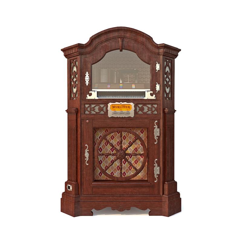 wurlitzer780 jukebox 3d max