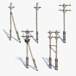 low-poly poles 3d max