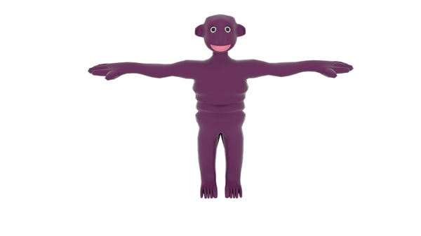 slimeman slime man 3d model