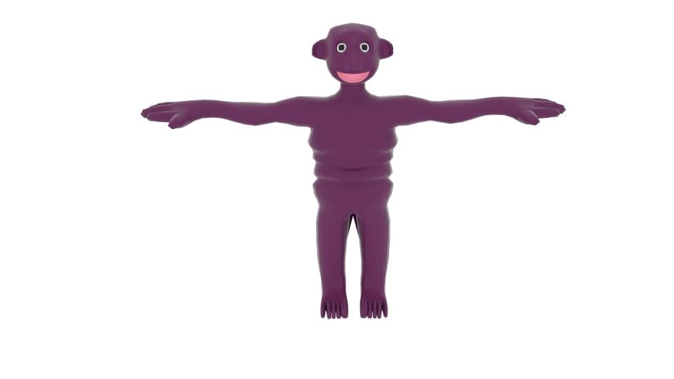 slimeman slime man 3d model