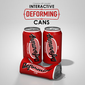 interactive deforming cans 3ds