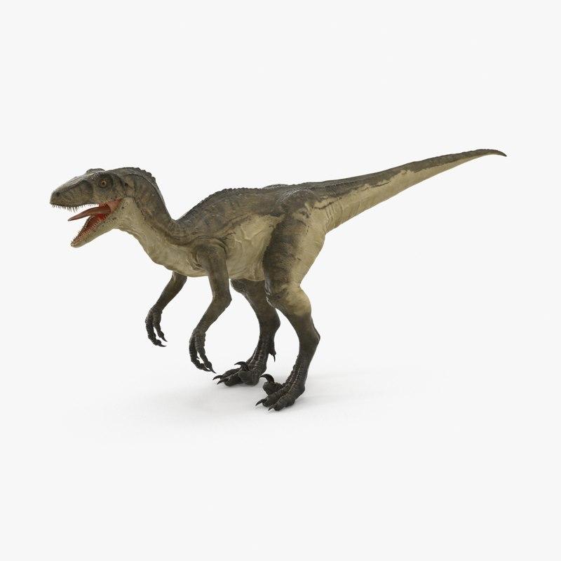 3d deinonychus - model
