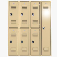 school lockers 3d ma