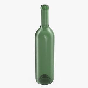 wine bottle 3d max